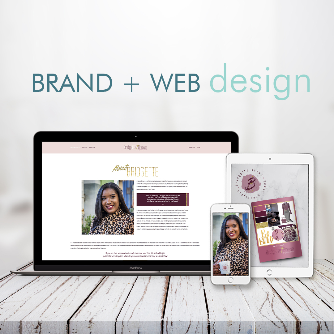 Make Your Presence Known with Chic, Posh and Luxe Design   You are ready to make a big splash in your industry and level up your brand in a major way. You're way too busy for DIY brands so you're ready to invest in a custom brand or web design.