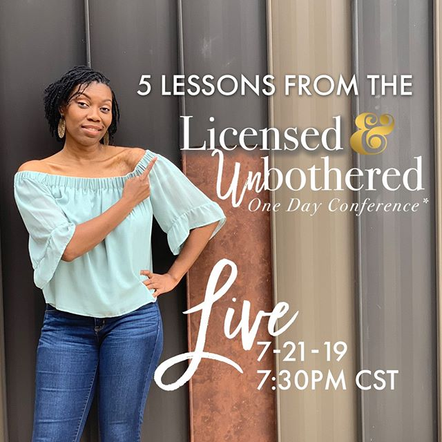 Didn't make it to the #licensedandunbothered conference hosted by @makedasmithceo? No worries! Tonight I'm going to share my experience at the event as well as 3 reasons you need to have your face in the place next year.⠀⠀⠀⠀⠀⠀⠀⠀⠀ ⠀⠀⠀⠀⠀⠀⠀⠀⠀ Sent via @planoly #planoly⠀⠀⠀⠀⠀⠀⠀⠀⠀ #chicagorealtors #blackwealthmatters #womenwhohustle #millenialmoney #financiallyindependent
