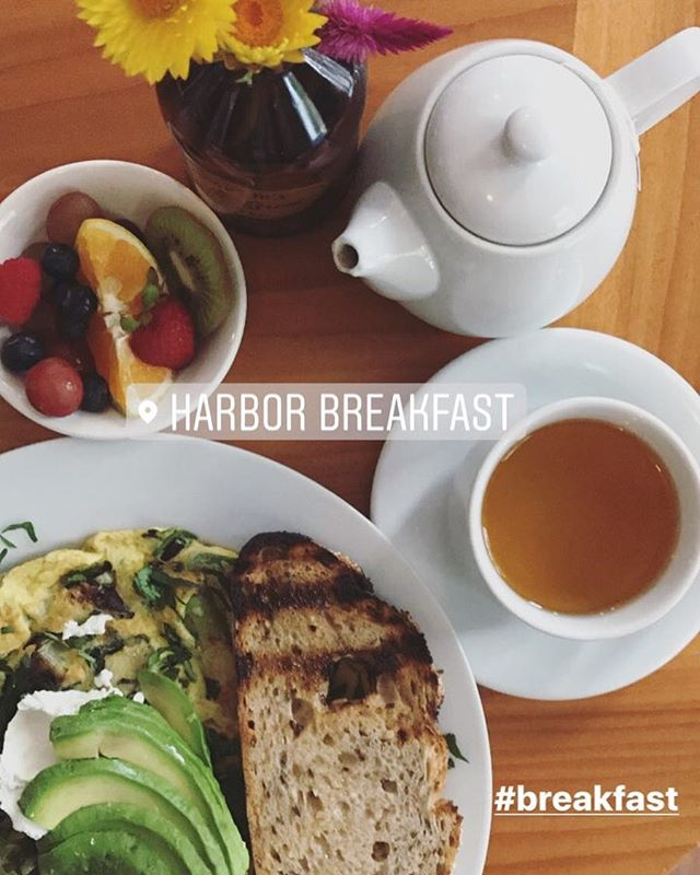 Healthy Breakfast at @harborbreakfast_sd  Frittata Verde with organic fruit on the side and local multigrain bread from @sadierosebakingco ☺️ - - #breakfast #breakfastofchampions #breakfastime #breakfastlover #breakfastlover #tea #teatime #goodmorning #sandiego #sandiegofood #sandiegoeats #eatsandiego #sandiegoeats #bestofsandiego #littleitaly #littleitalysandiego