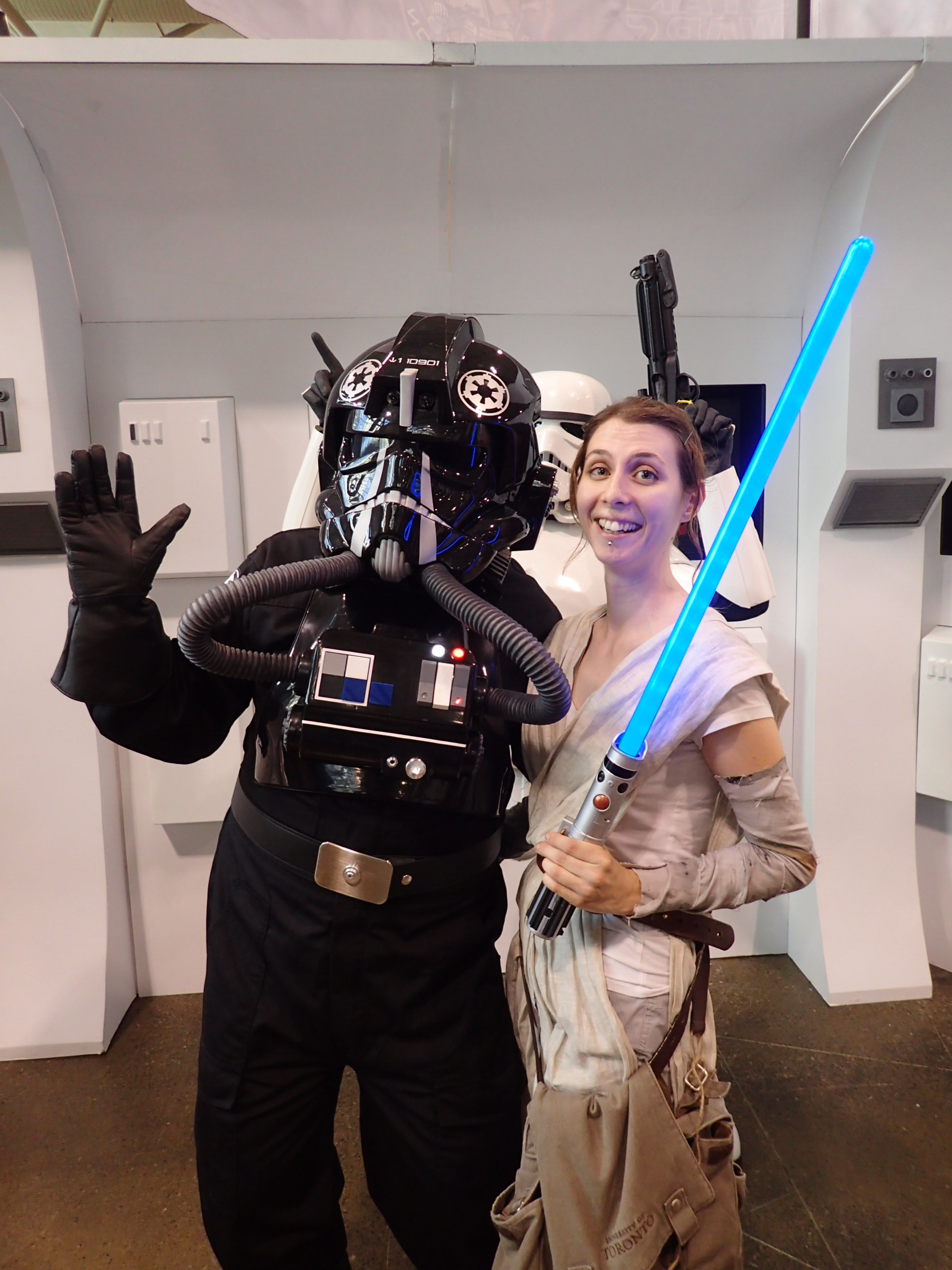 I got a hug from a TIE fighter pilot, which was pretty much a bucket list moment right there.