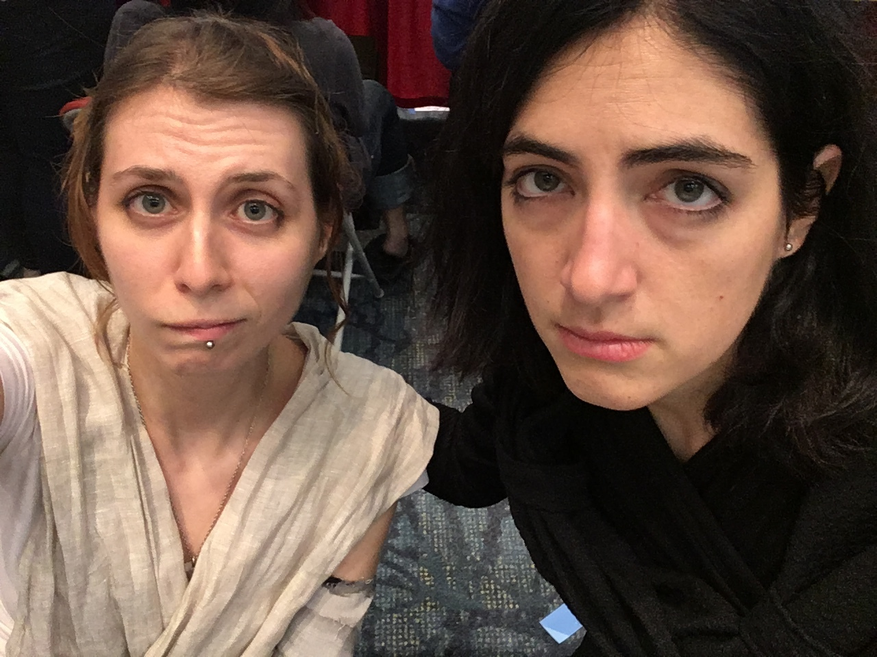 Rey and Kylo are bummed that we looked for Finn and Hux ALL DAY and never found them!