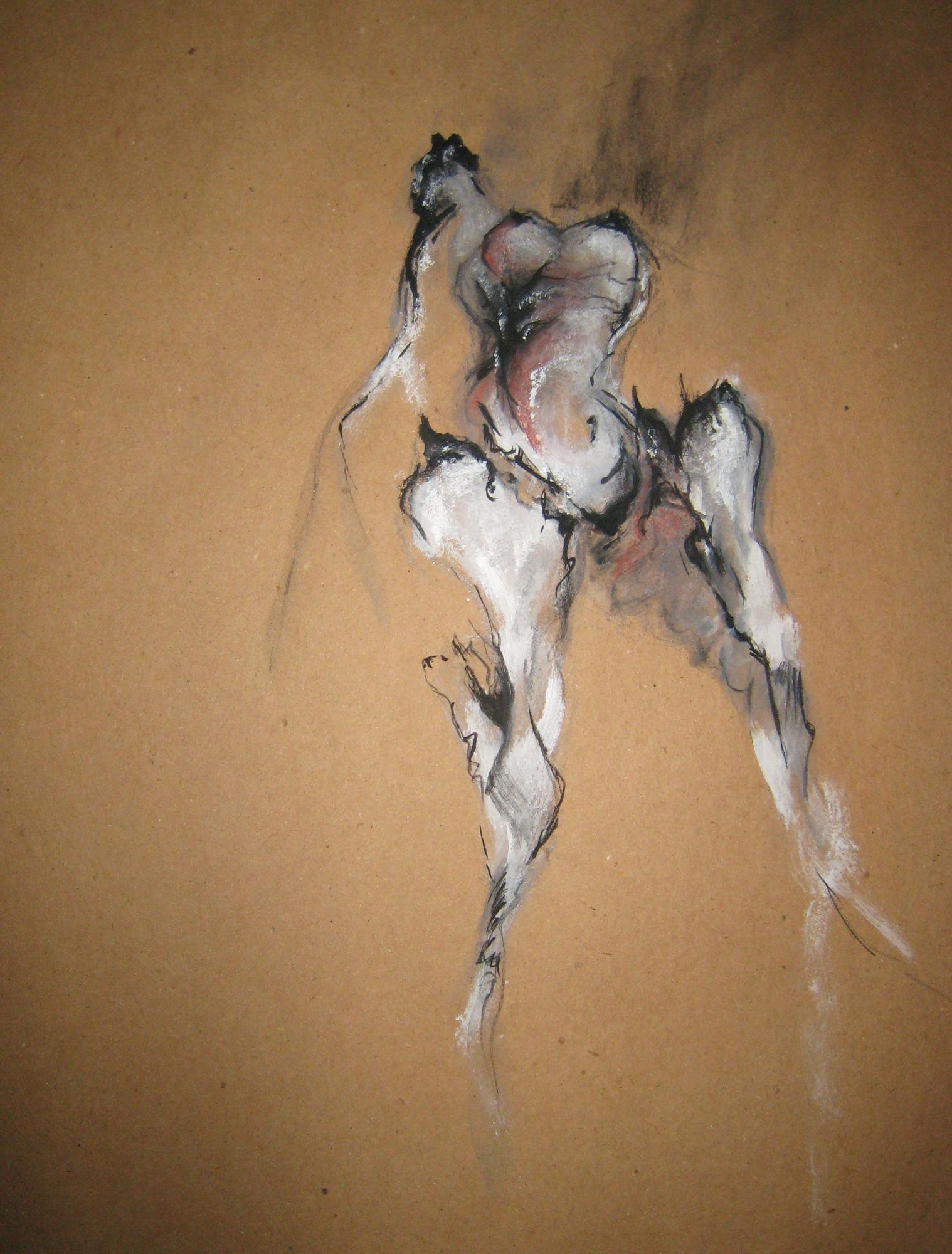 acrylic, watercolor, pencil, 2007  16 x 20 inches