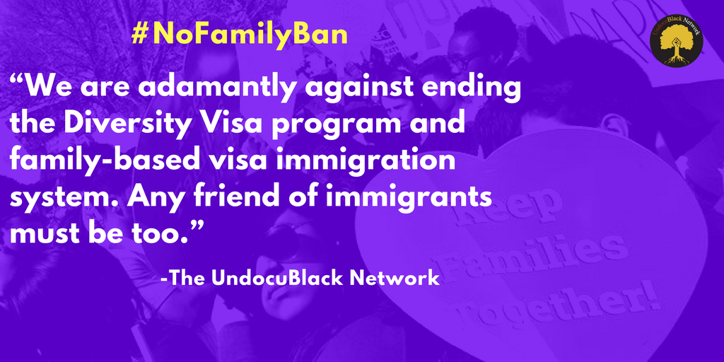 #NoFamilyBan - Cuts to the Diversity Visa program are essentially cuts to families thriving in the United States.