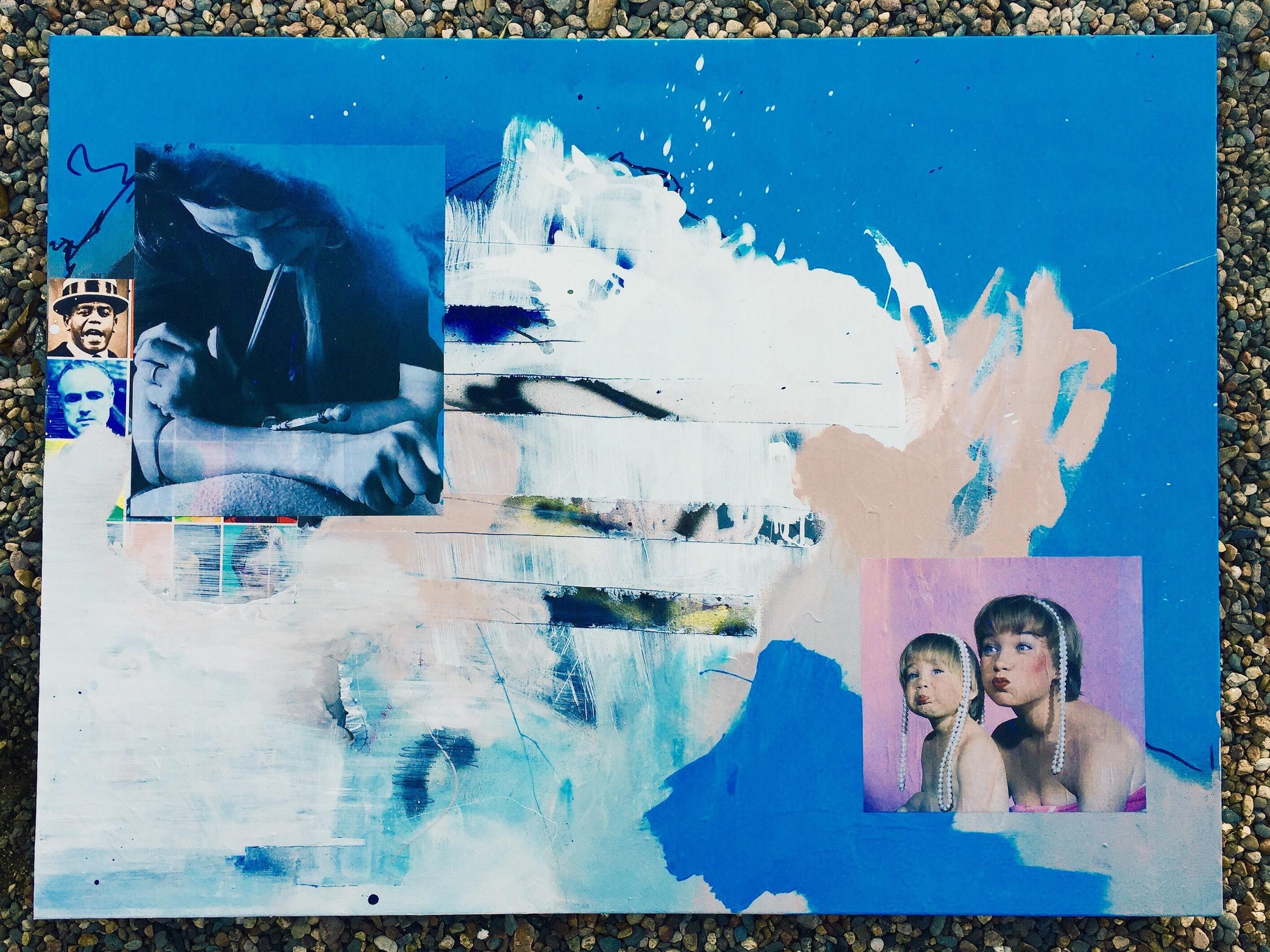 36x48 collage oil spraypaint