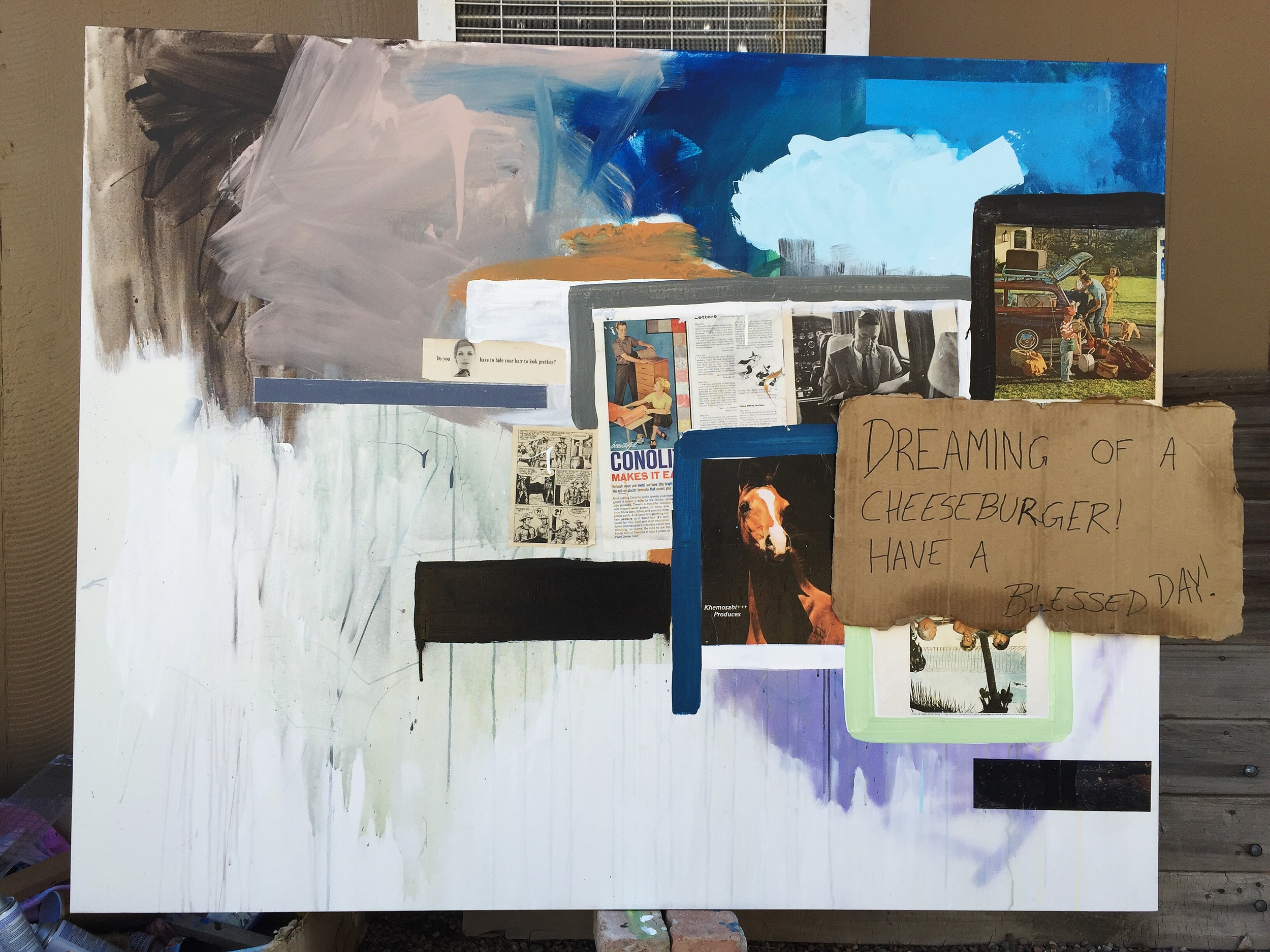 48 x 60 collage oil