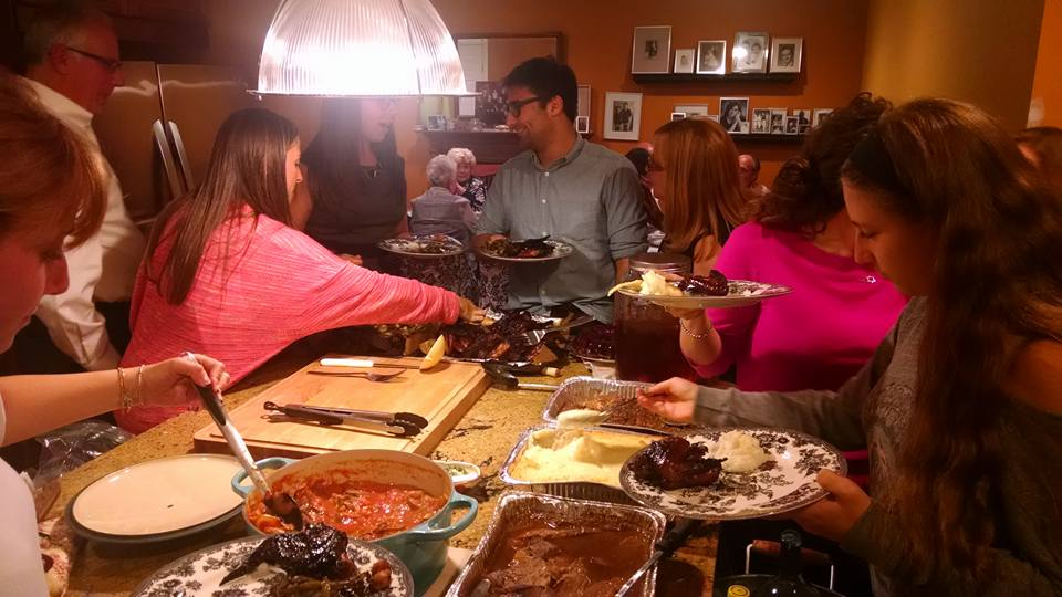 Just a tiny fraction of both the food and the family.