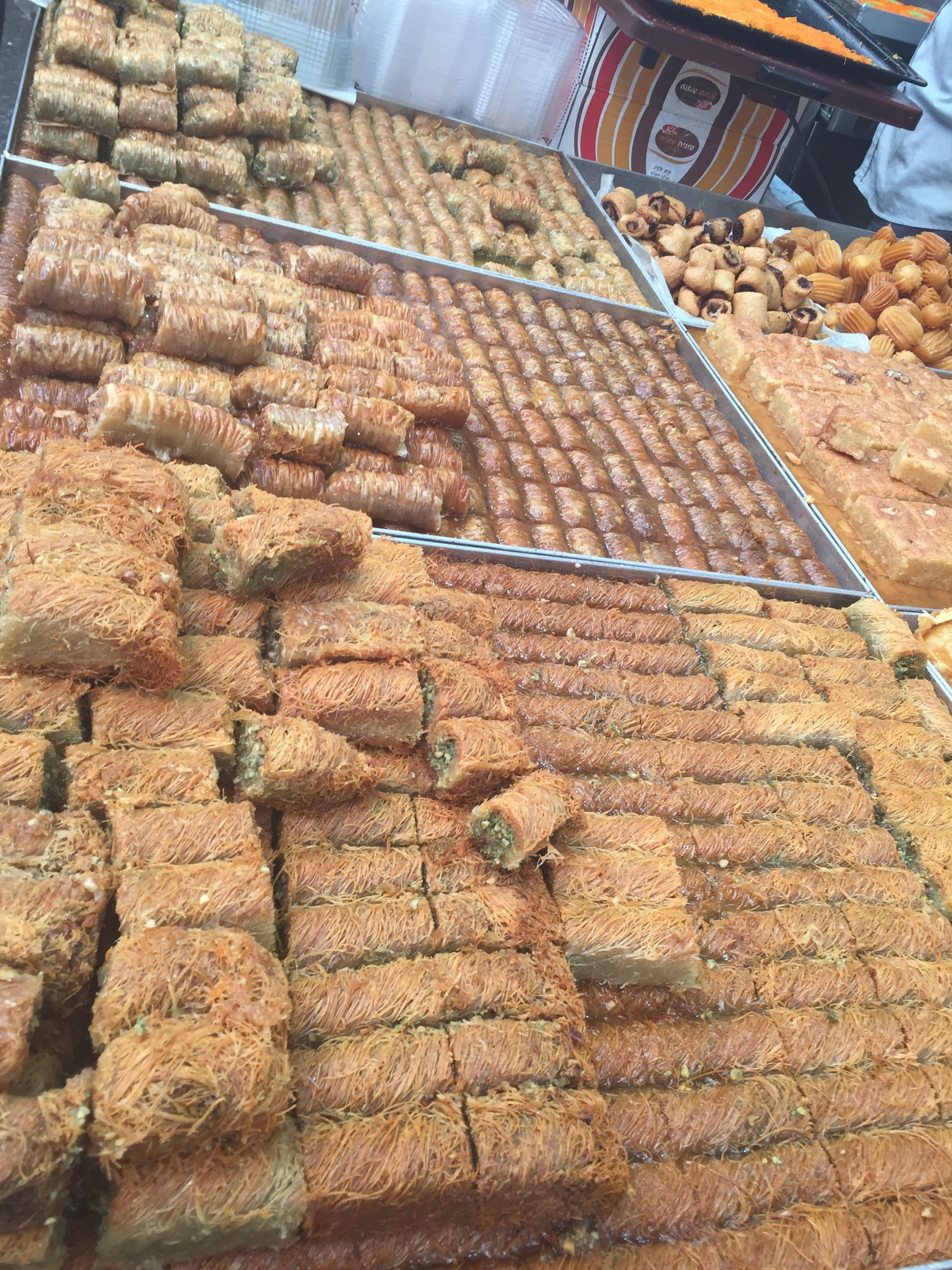 Every imaginable type of baklava
