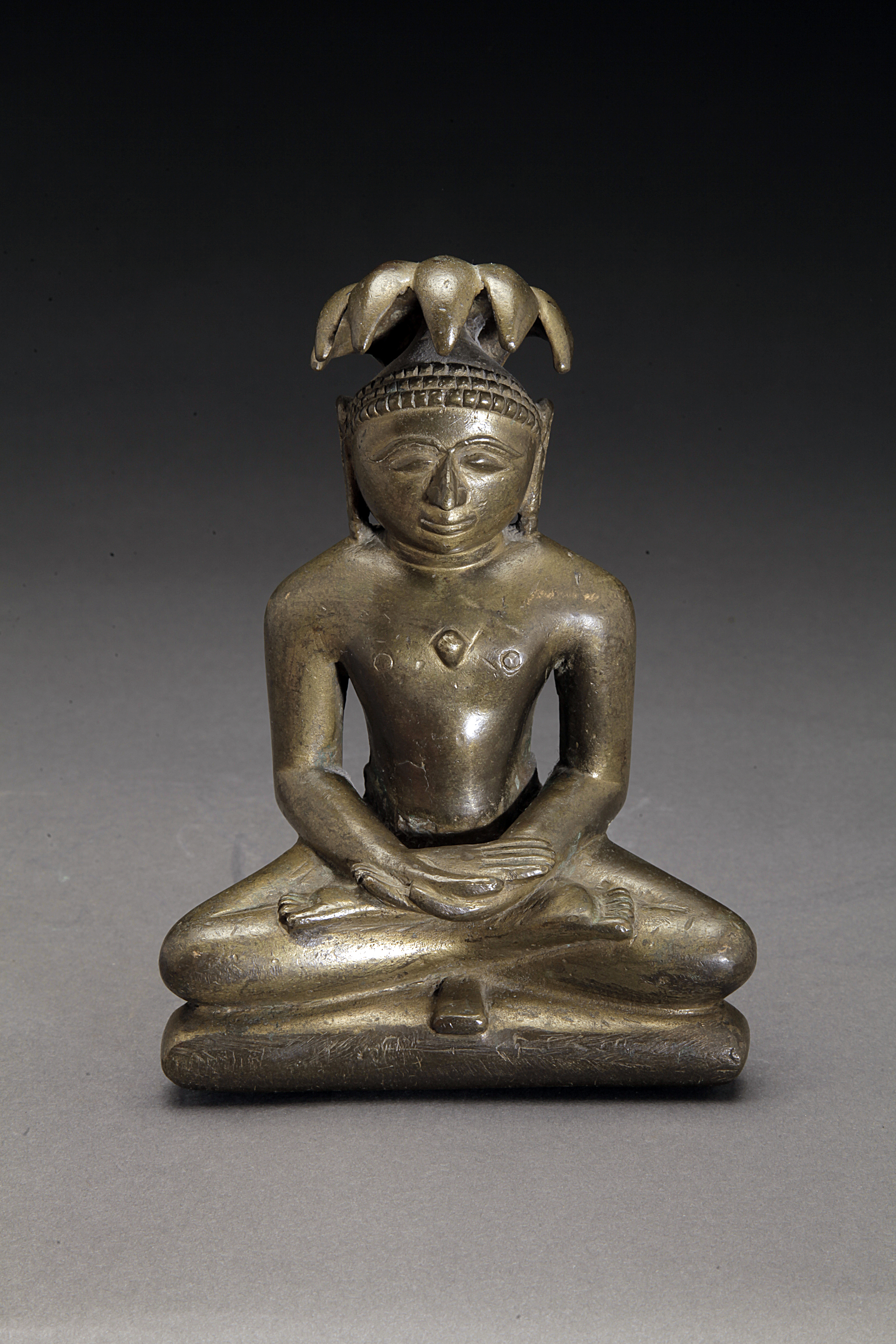 Gilt Bronze 18-19th Century Jain Figure