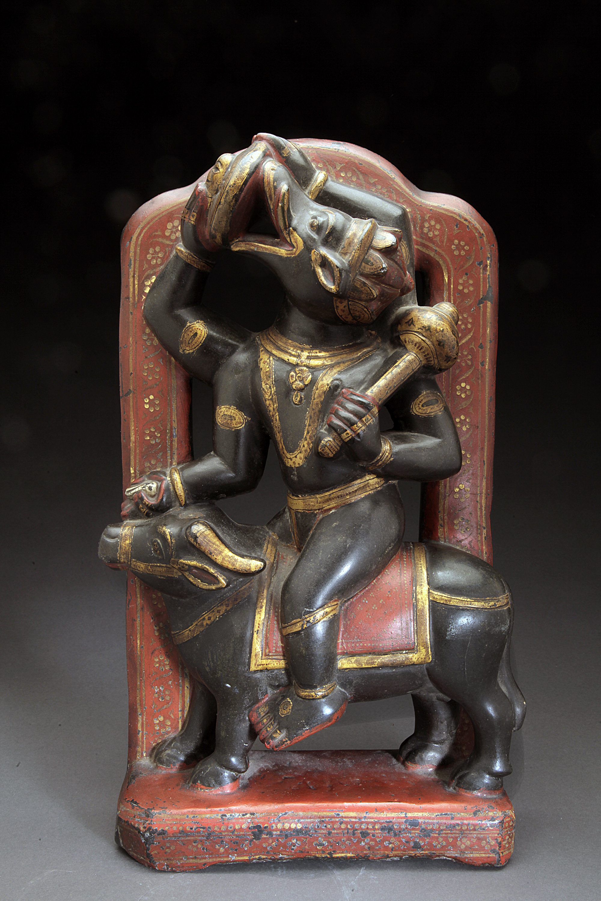 Black Stone 18th century Indian Figure Of Varaha