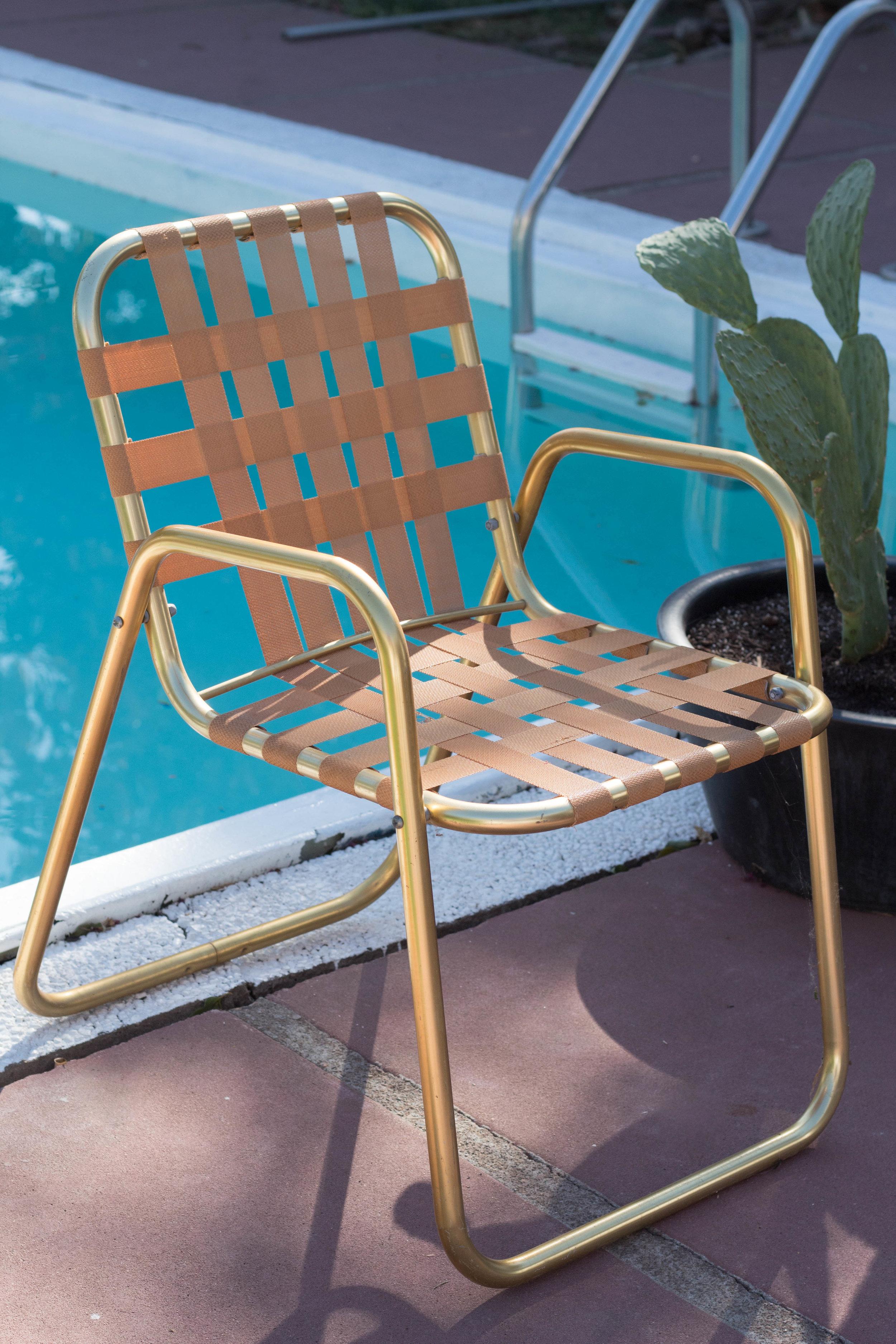 Bon and Jovi - (2) Lattice strap chairs