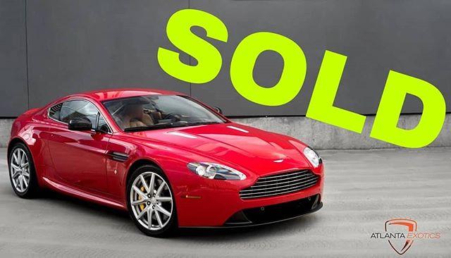 This little Aston is SOLD and off to its new owner. Enjoy! 😎😎😎😎😎😎😎😎😎😎😎 . #atlantaexotics #Lamborghini #Huracan #exotic #aventador #sv #gallardo #murcielago #squadracorsa #blacklist #dupontregistry #forsale #carsofinstagram #sold #astonmartin #vantage #astonmartinvantage