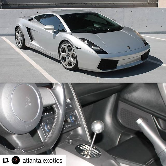 2004 Lamborghini Gallardo 6-Speed Manual! 6-Speed Manual! 6-Speed Manual! $89,995  Link in Bio to website with full size pictures and more information. . #atlantaexotics #Lamborghini #Huracan #exotic #aventador #gallardo #spyder #6speedmanual #gated #murcielago #forsale