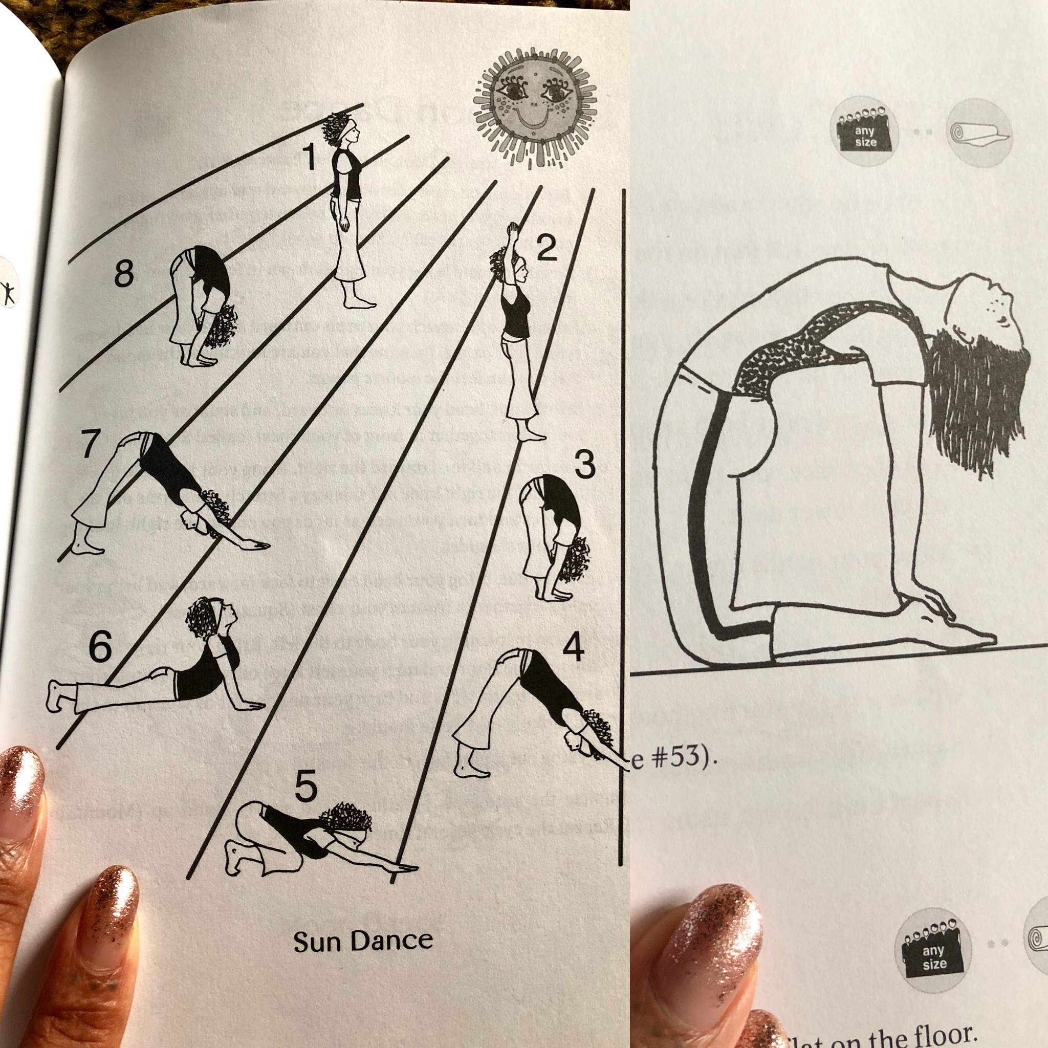 """Photo collage by Kenya Ku$h // pages from """"yoga exercises for teens"""" by Helen Purperhart"""