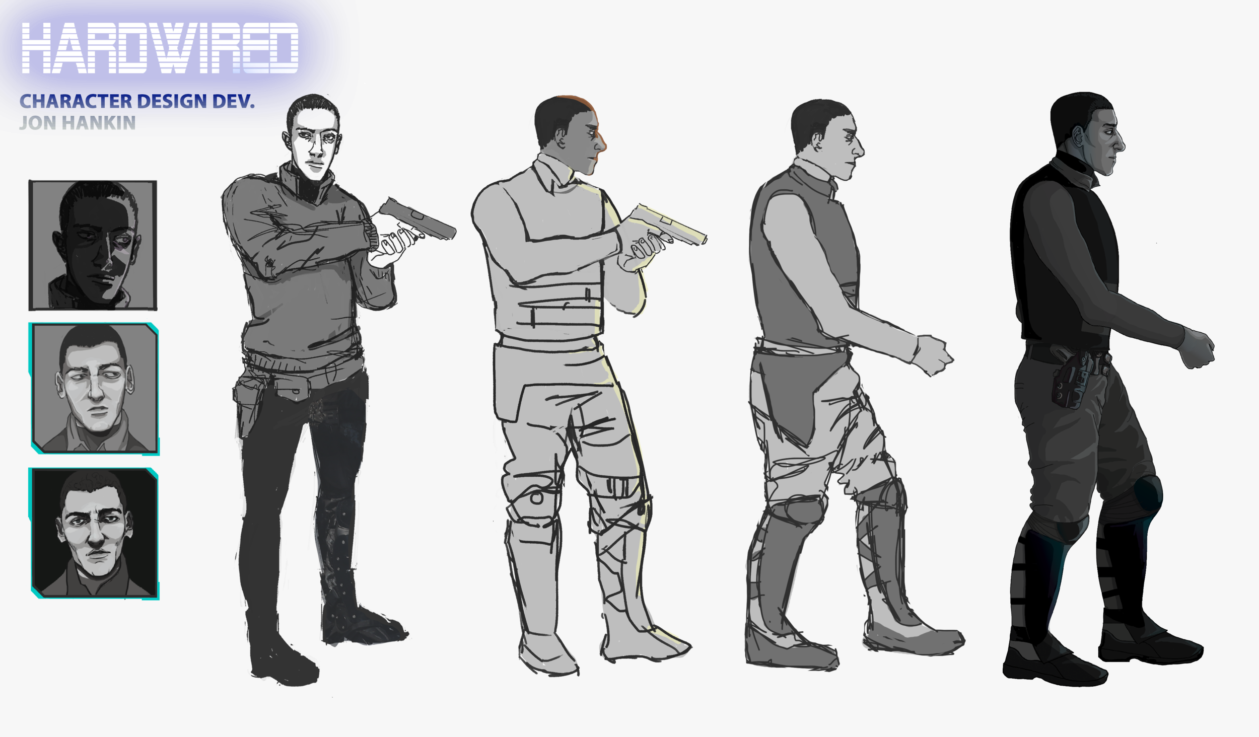Character Design Sheet - Jon Hankin by Adela Kapuścińska. 2017.