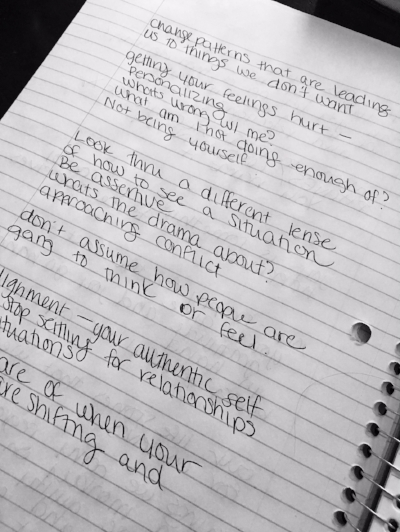 How my writing always starts out...An unorganized mess of ideas