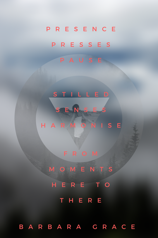 """presence pressing pause - stilled senses harmonise - from moments here to there"" - journal entries and poems help us understand at a more cellular level the ""power of the pause"""