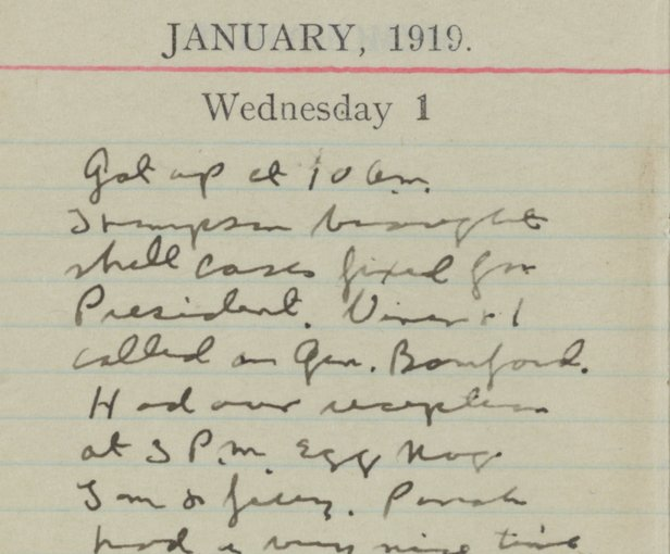 A PAGE FROM GENERAL PATTON'S DIARY
