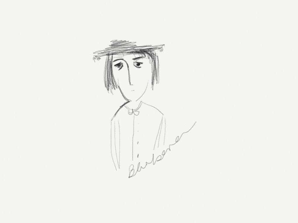 a scratchy pencil sketch
