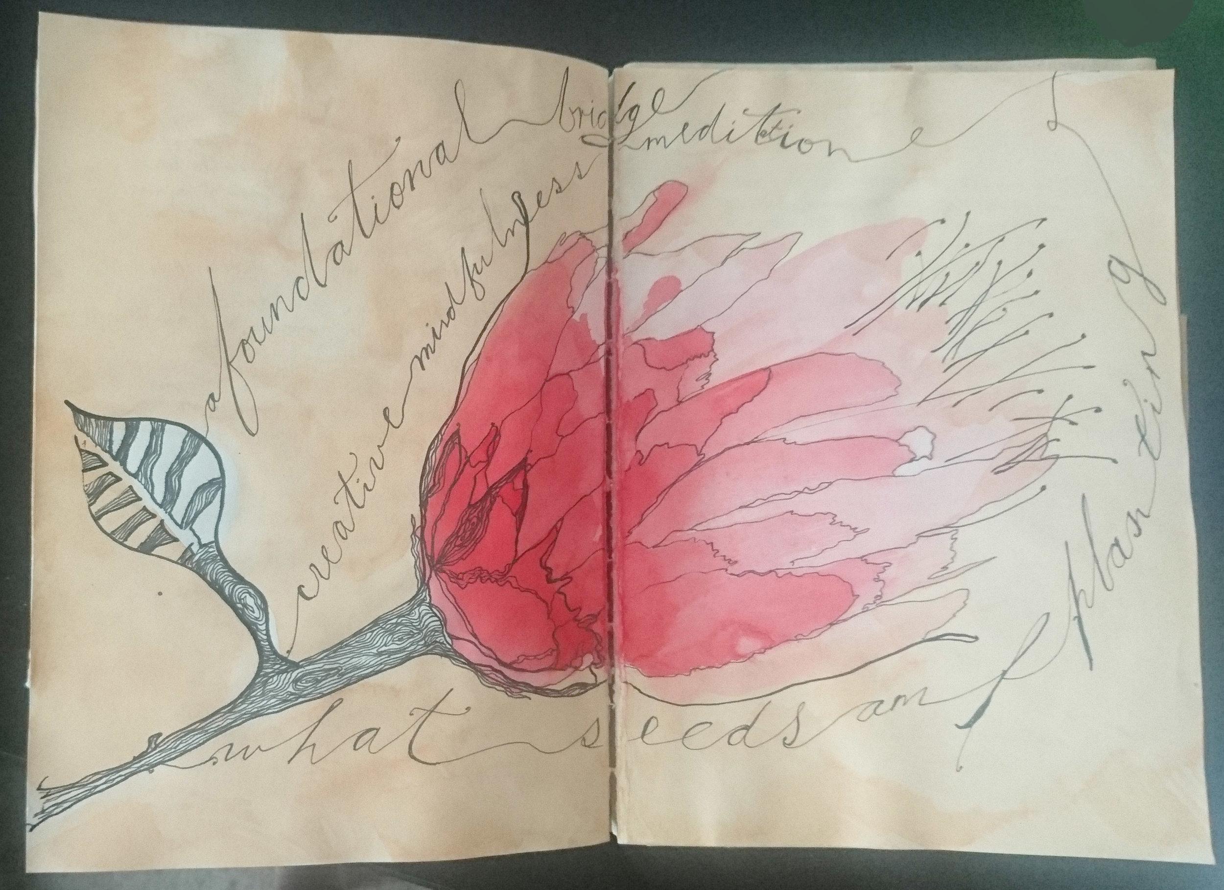 Image: Journal entry, Barbara Grace creativemindfulness.courses