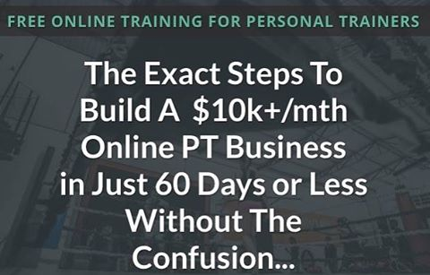 Free live workshop this Thursday.  The 3 key aspects to a succeful $10k p/m online fitness client biz & im going to reveal the exact funnel that's generated over $350,000 in online PT clients, so u can copy & use in ur biz. Go to http://bit.ly/2rvFSw6