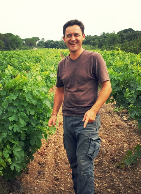 Olivier in his vineyard