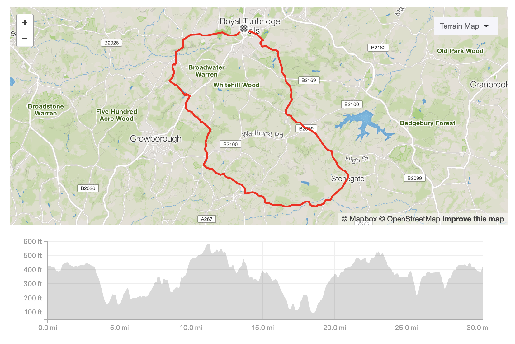 See the route in Strava:  https://www.strava.com/routes/19416842    Download the GPX file