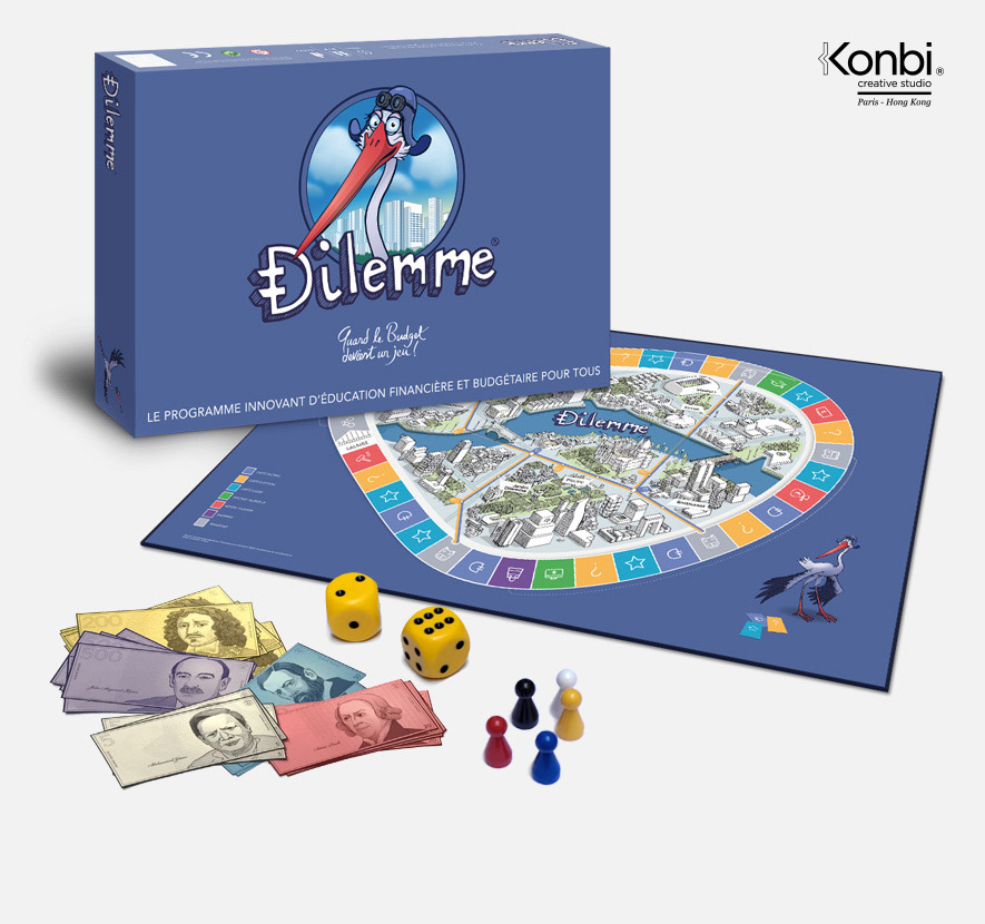 Board game Dilemme, created by Konbi / C. Lacorne - Design & illustrations © Konbi - All rights reserved