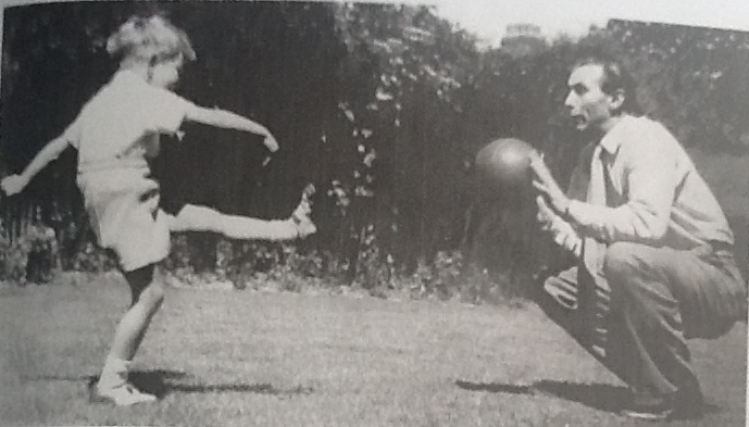 From the family album: son Stanley and Sir Stan