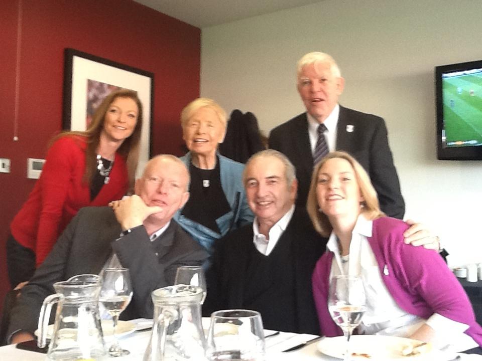 The family today: Back – Samantha (granddaughter). Jean (daughter). Bob (son in law); Front – Matthew (grandson). Stanley Jnr. (son). Mandy (granddaughter)
