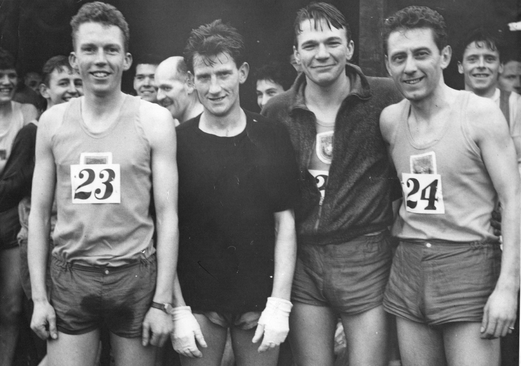 Don Shelley (right) in his Michelin cross-country days (photograph courtesy of Don Shelley)