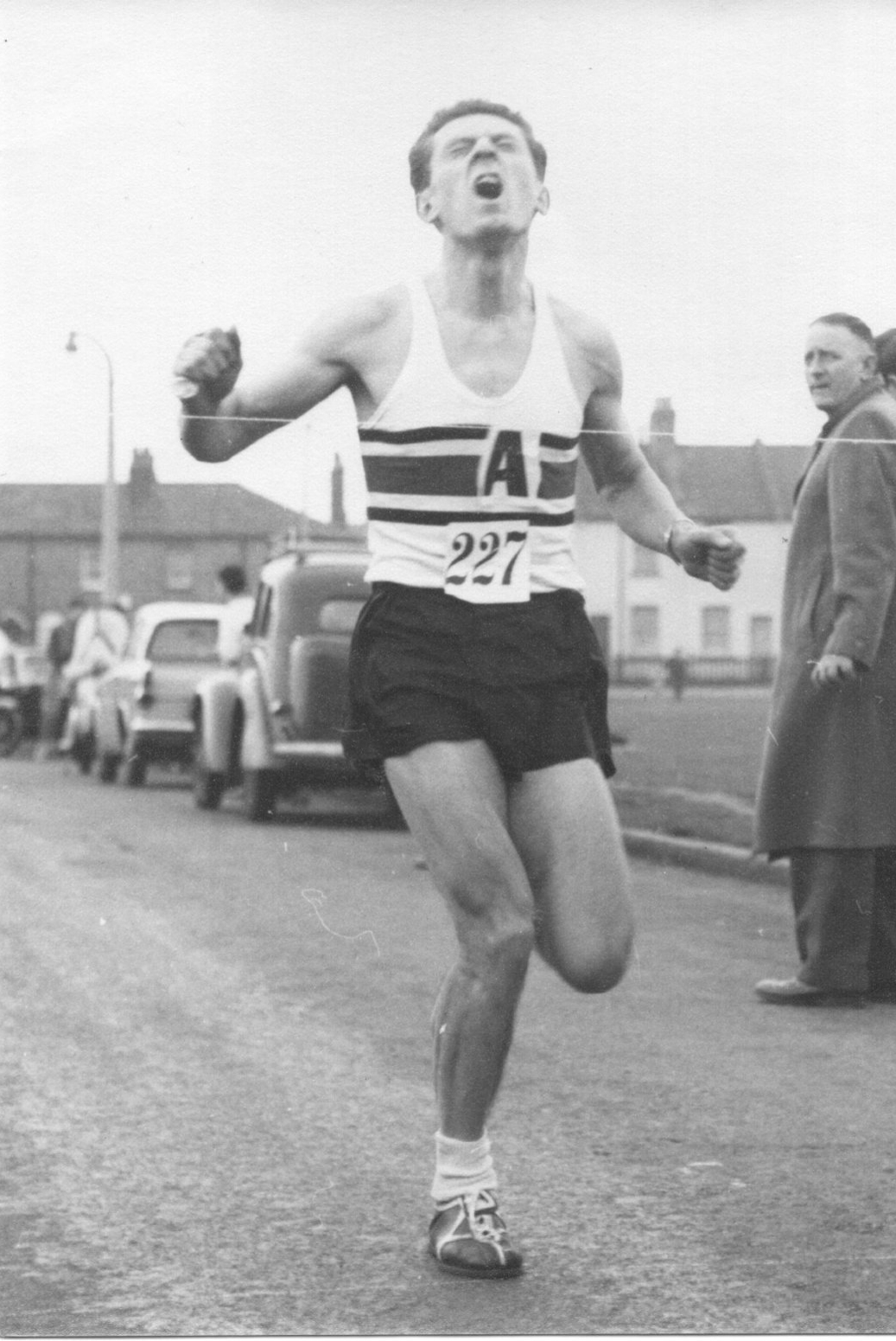 Don in race-winning mode at the Mitcham 25k