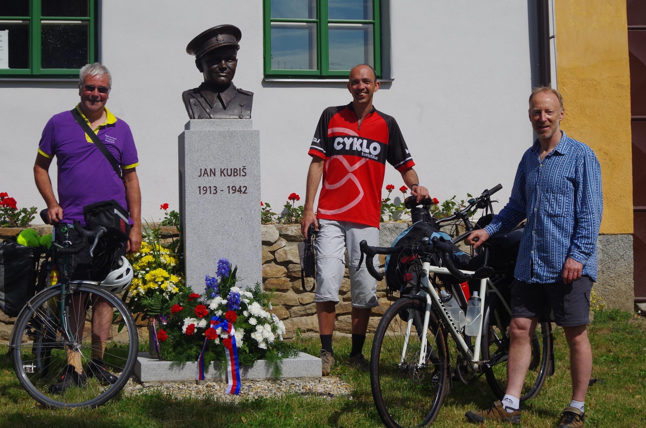 At the Jan Kubis memorial: Steve, Milan Krcmar, Mark