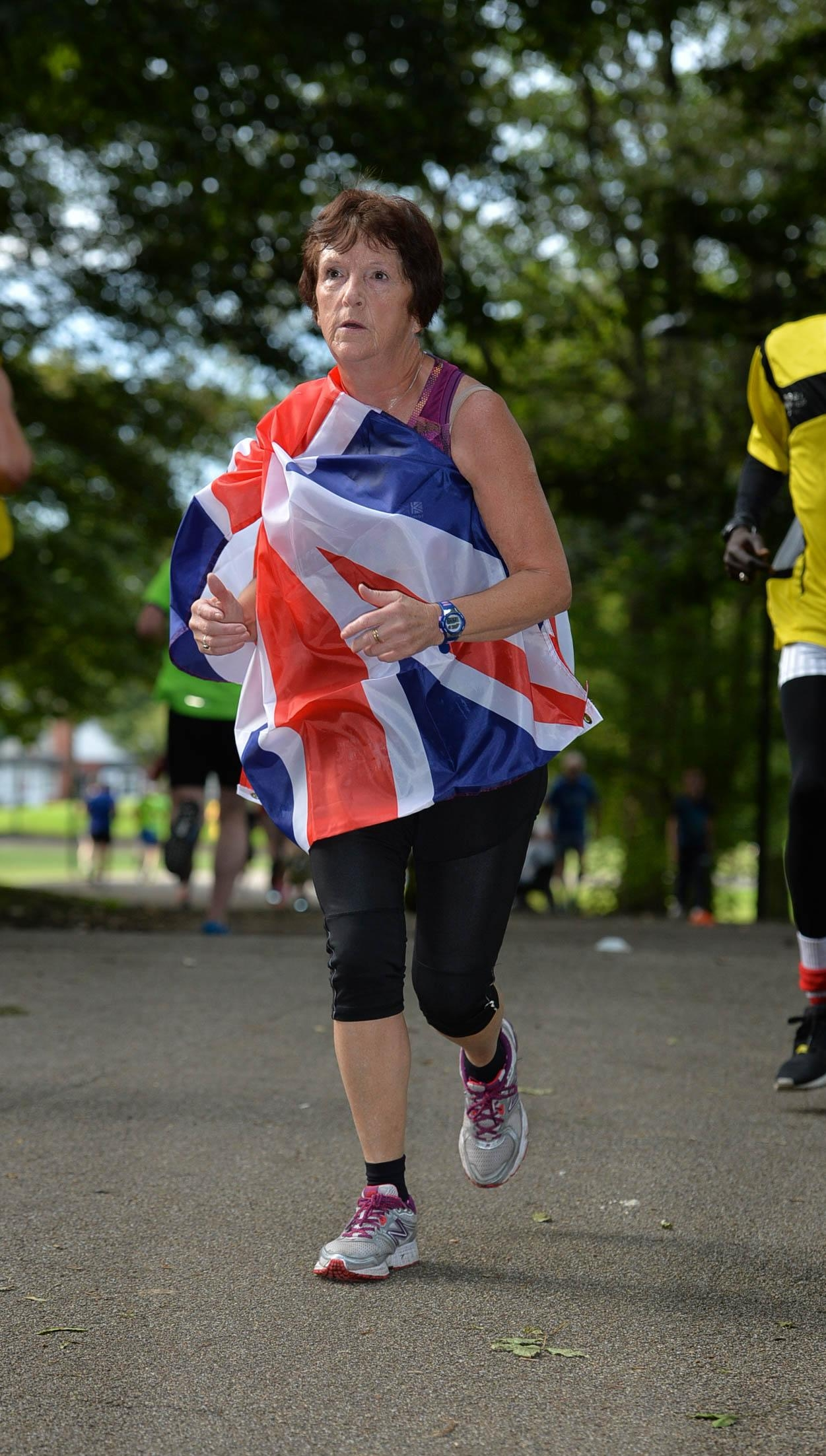 Margaret flying the flag for TeamGB