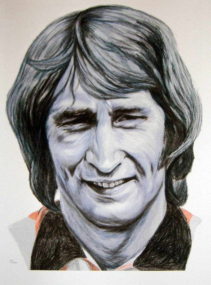 Denis Smith - painting by Steve Shaw