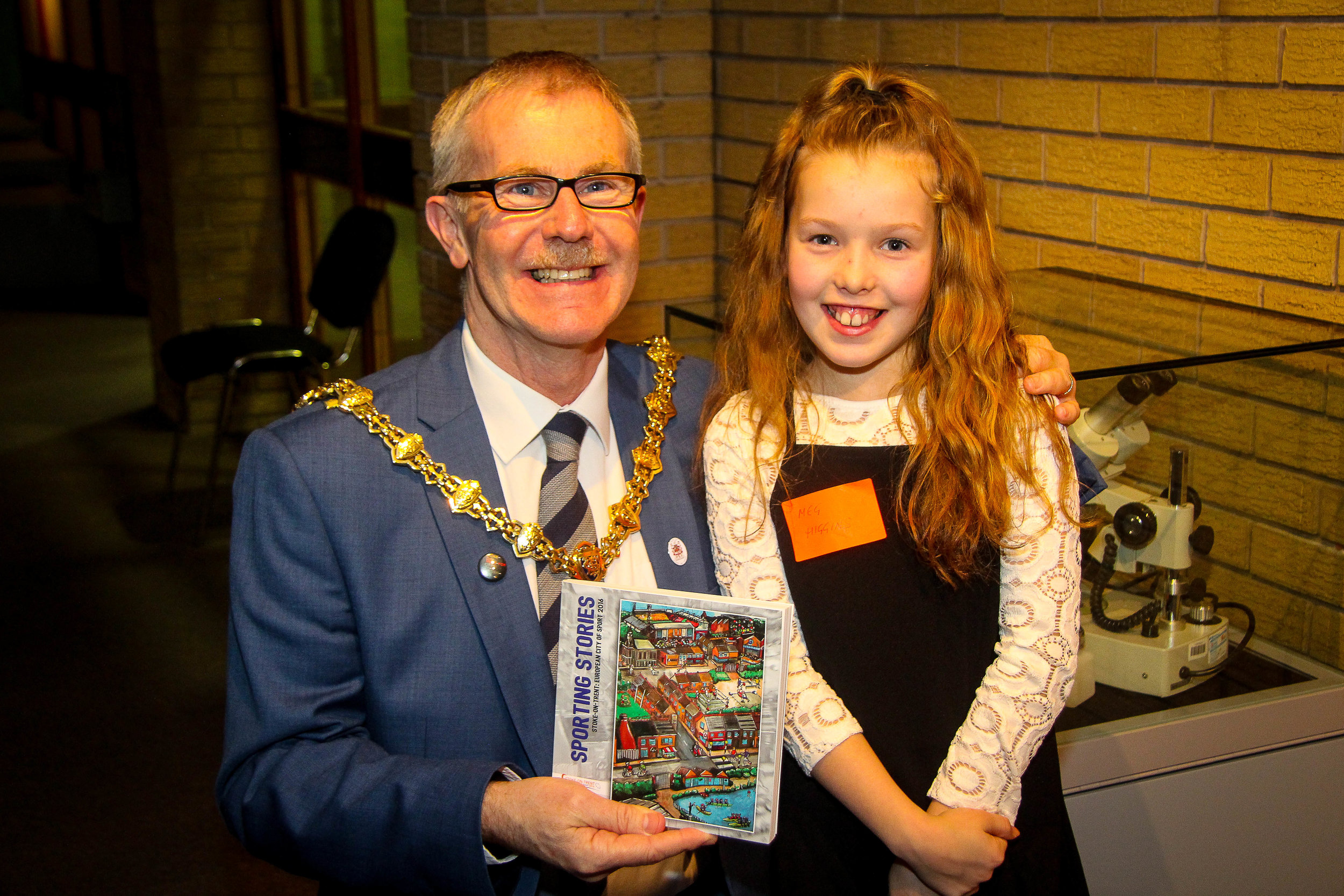 And Meg again, on the autograph trail with the Lord Mayor!