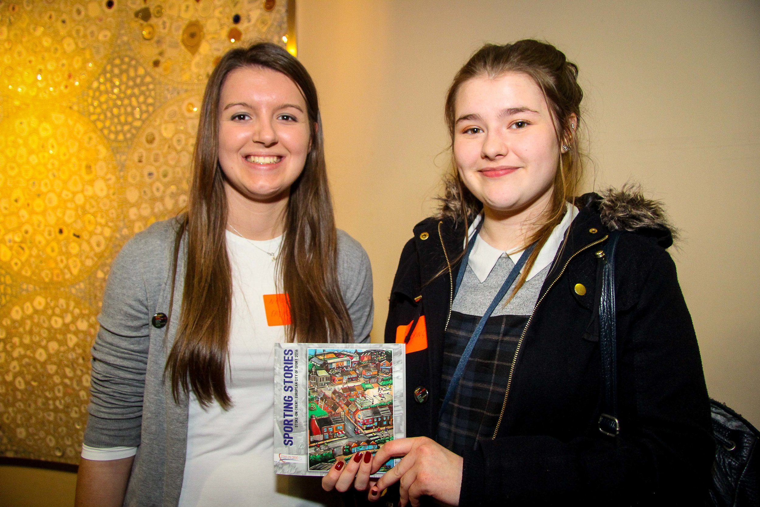 Two of our work experience students, experts in copy typing and editing! Natalia from Newcastle-under-Lyme College (L) and Katie, Stoke-on-Trent Sixth Form College (R)