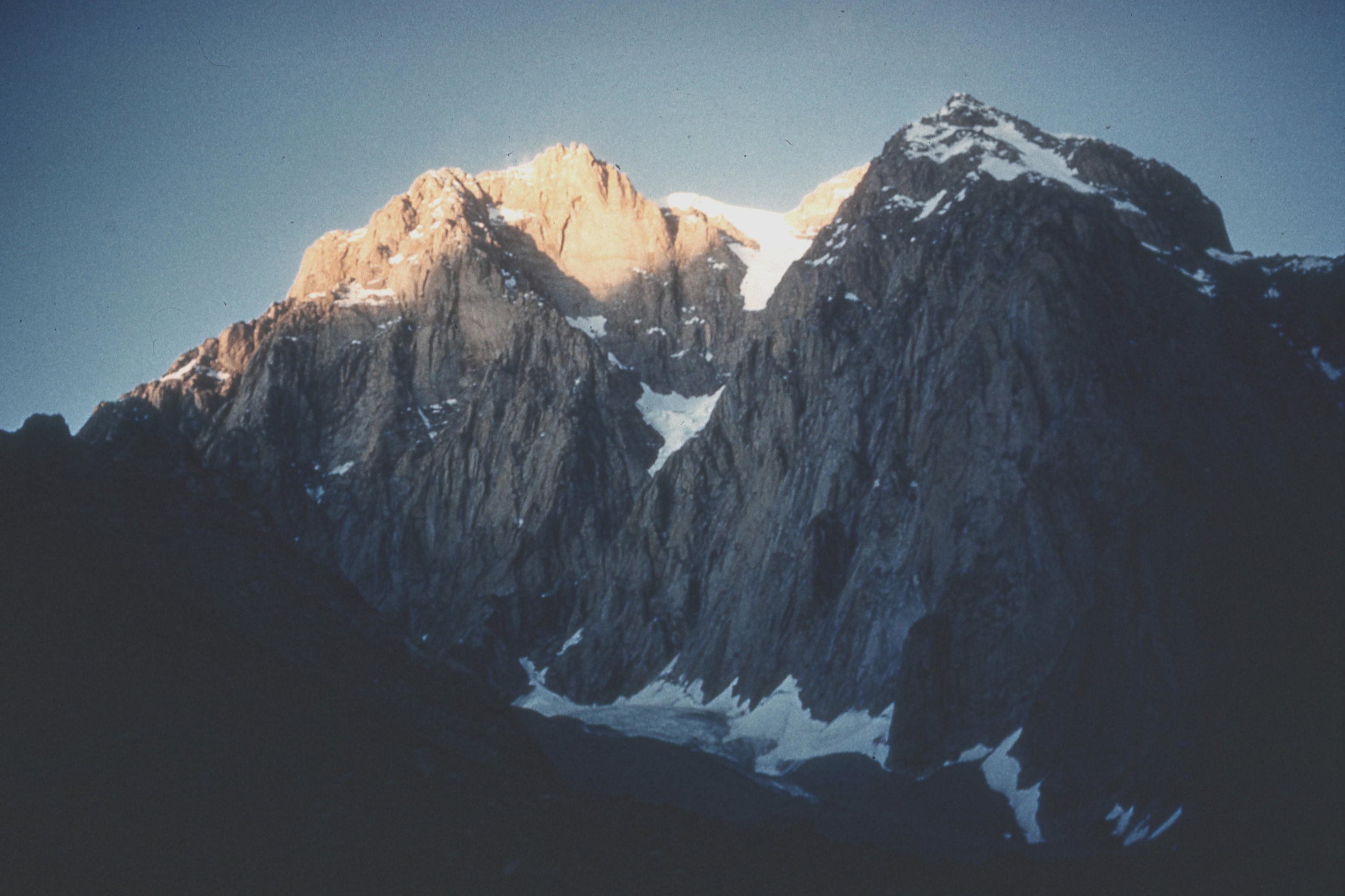 Saraghrar ( 24,110ft ) from base Camp (photo from Ted Norrish collection)