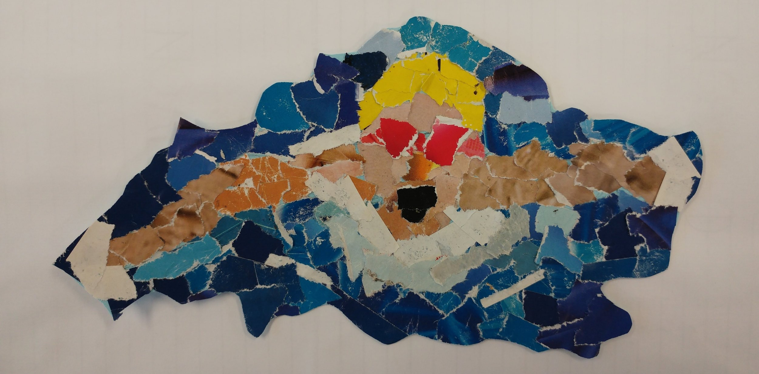 Swimmer. Mosaic by Noah, Hillside Primary School