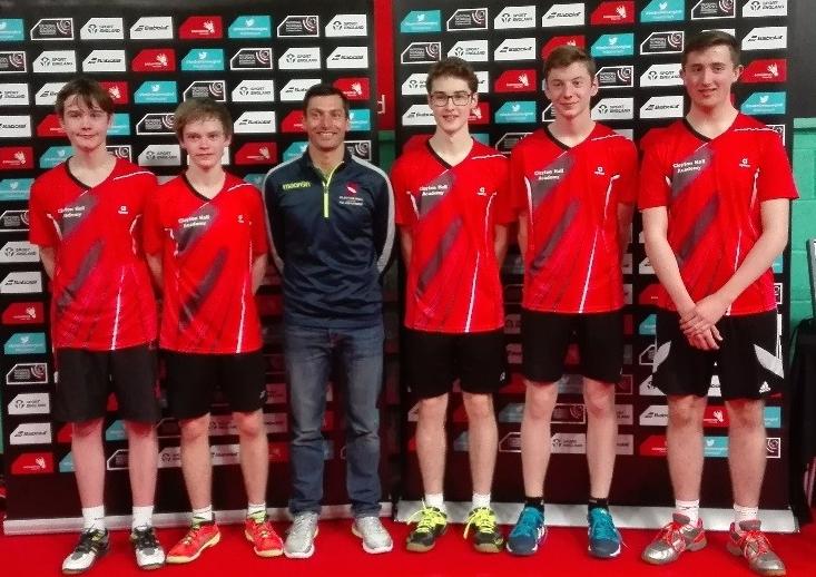 Boys U16 Team:left to right David Smith, James Duffy, Mr Rhodes, James Yearsley, Alfie James and Izaak Fairclough. Photo courtesy Andrea James