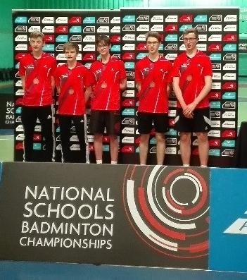 Boys U16 Team collecting their National Bronze Medals. Photo courtesy Robert Rhodes