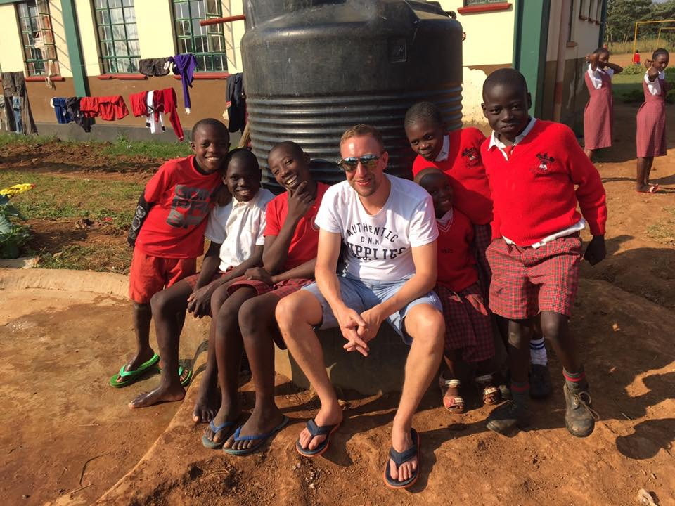 Paul and friends - at Kings Children's Home for orphans in Kenya. Photo courtesy Bruce Dyer