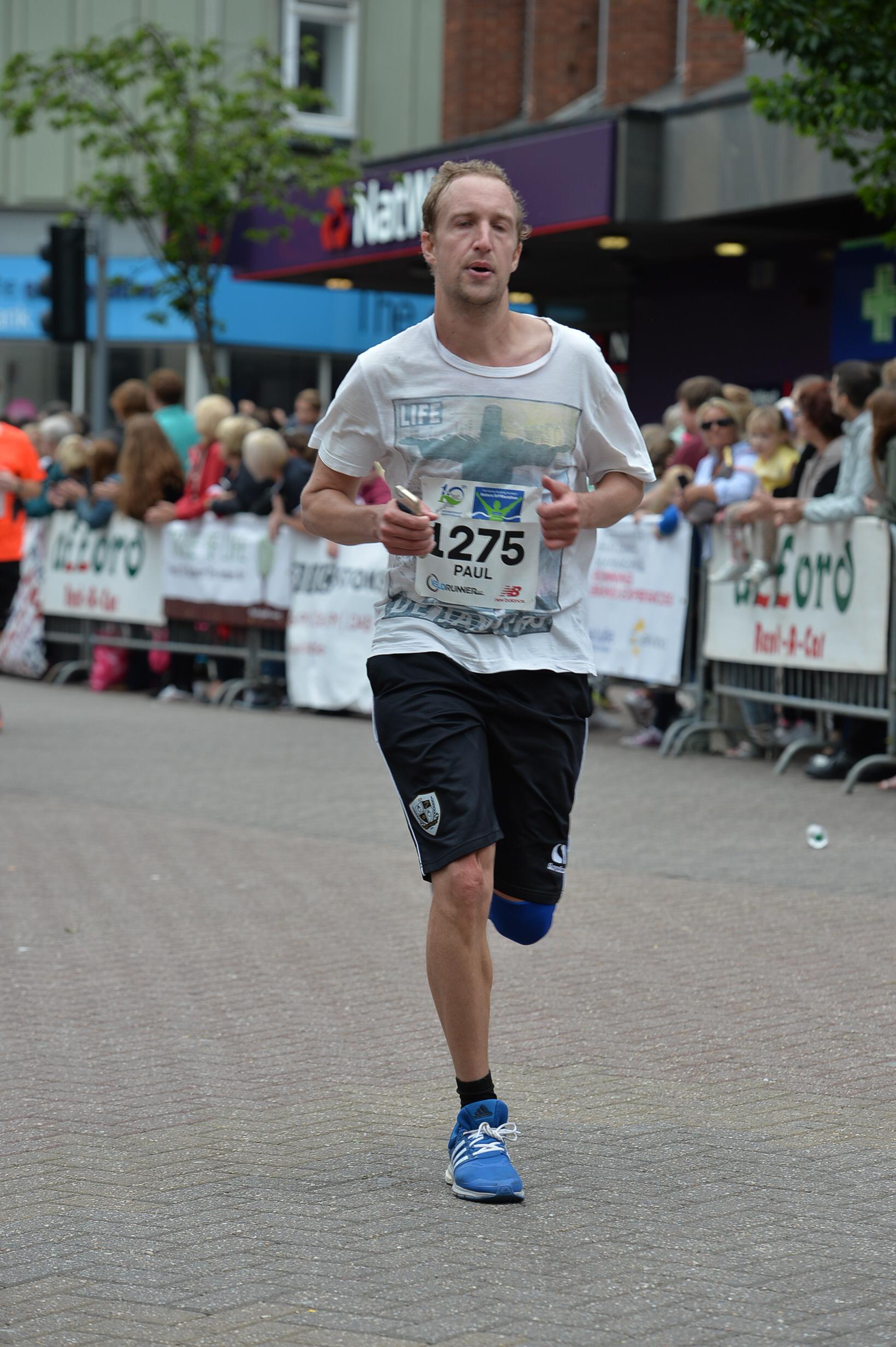 At the finish - photo courtesy Mick Hall Photos