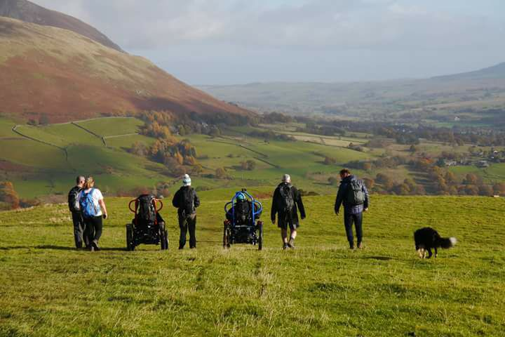 Freedom Wizard on Latrigg in the Lake District