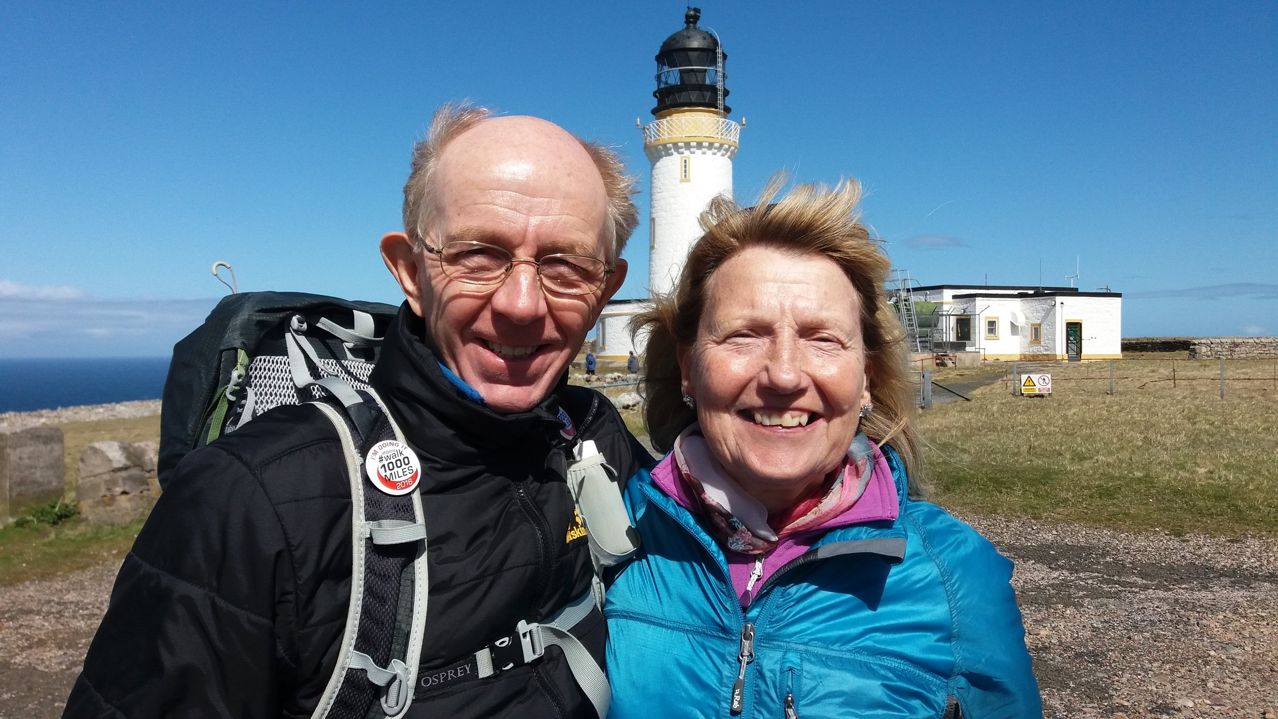 Martin and Maureen at Cape Wrath in Scotland