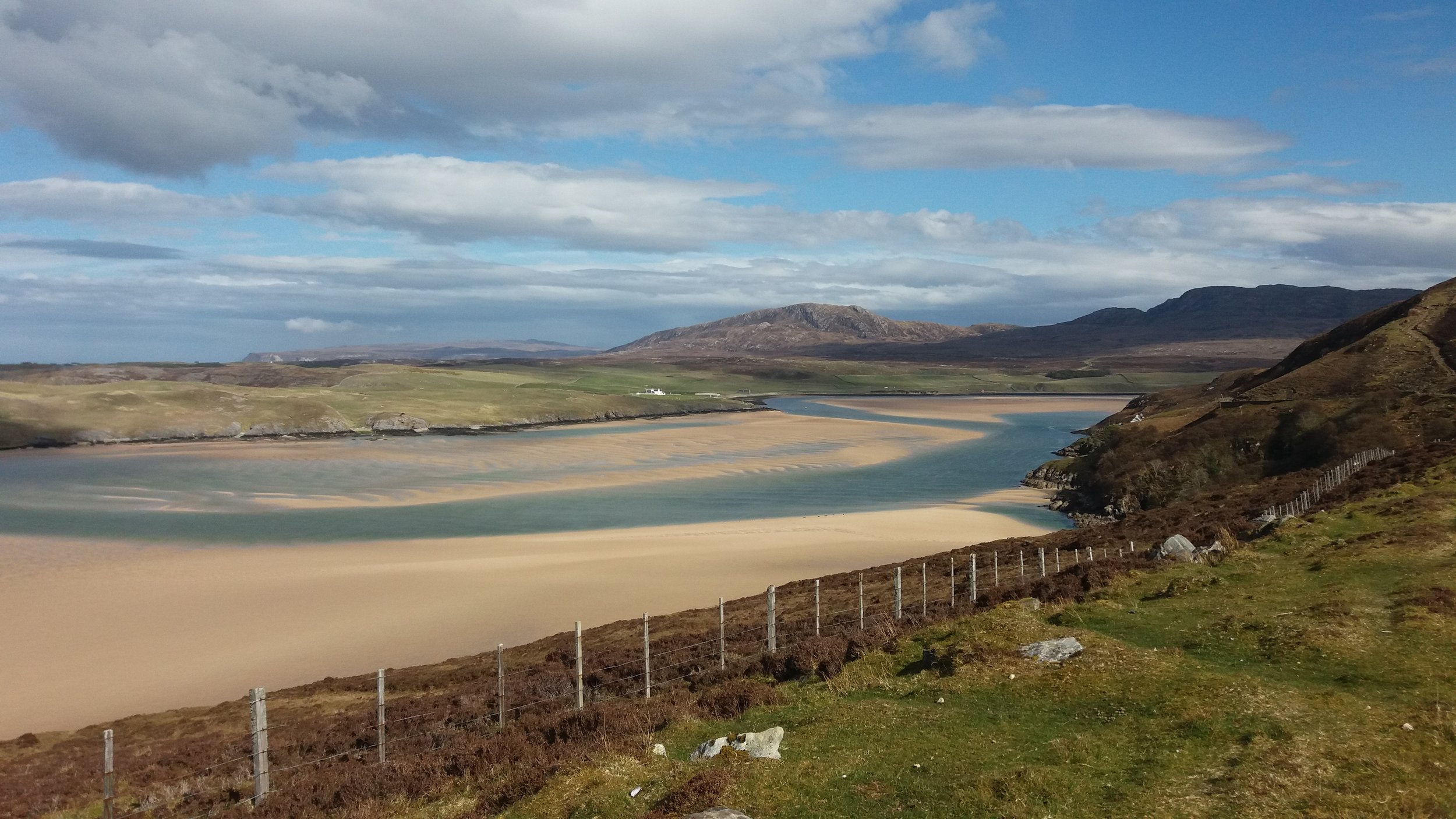 The stunning scenery of the Kyle of Durness, northwest Scotland