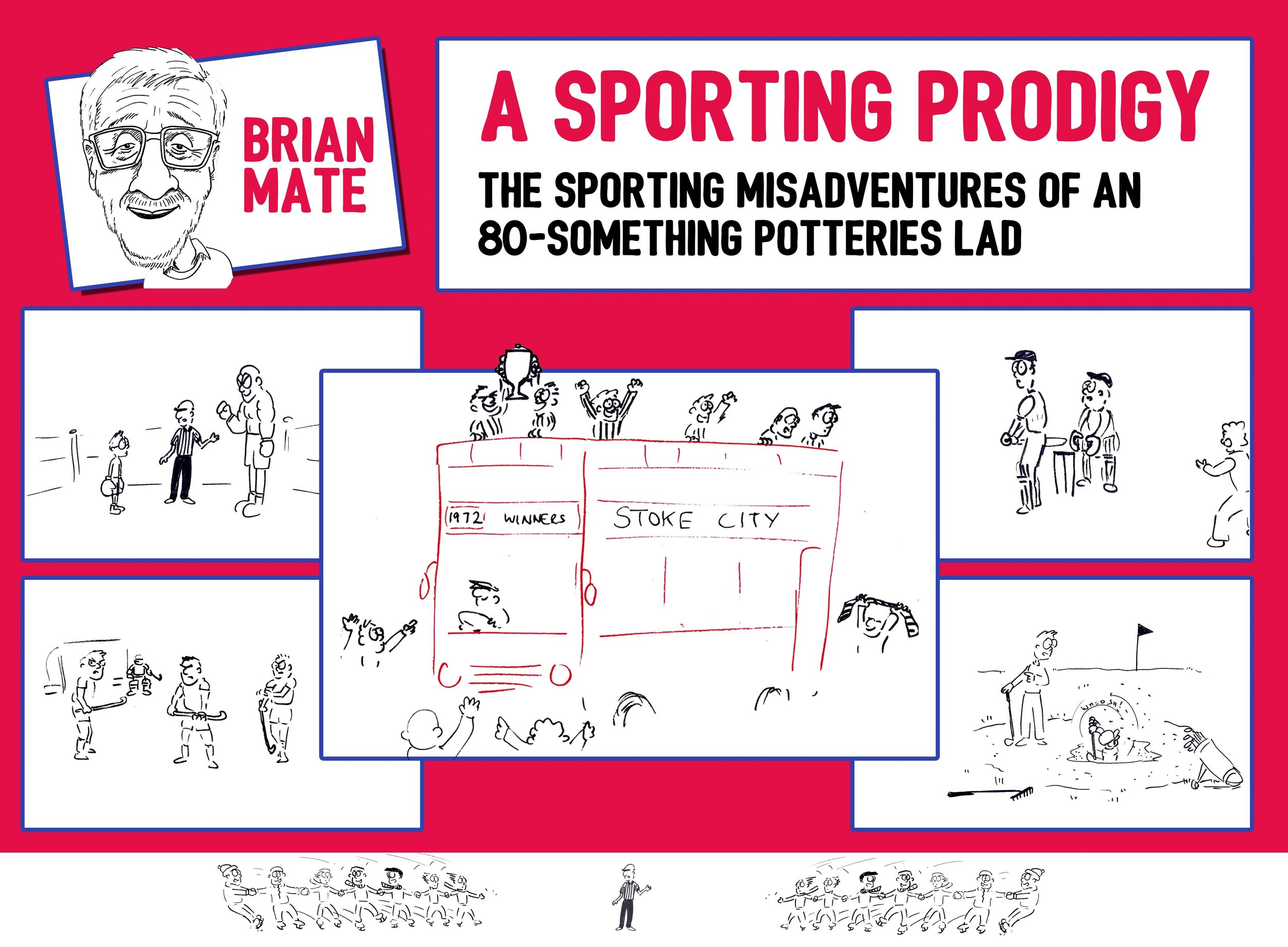 A fantastic collection of stories about all the different sports Brian Mate has tried over nearly 80 years, plus a few Stoke City and Port Vale tales too. A great read and the book also features 20 illustrations by local artist Scartoons!