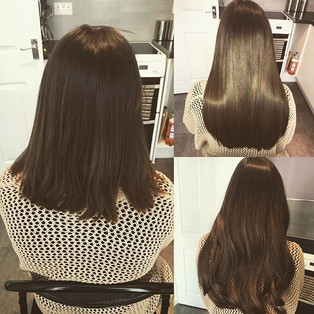 A short very thick blunt cut to long locks 💇💇❤️