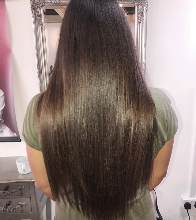 """My lovely client fitted with 22"""" tape in extensions ❤️❤️💇💇"""