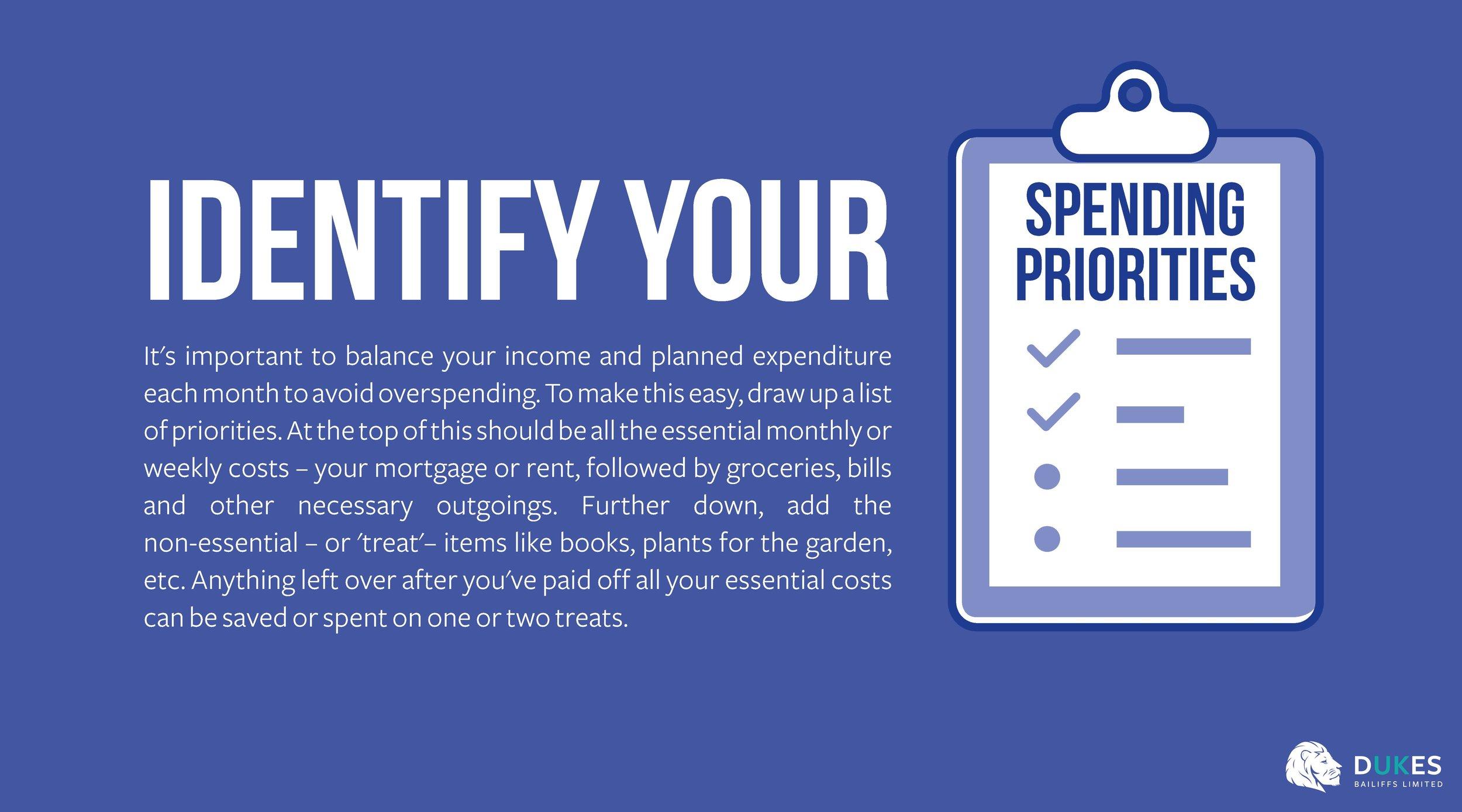 5. Identify your spending priorities - Dukes.jpg