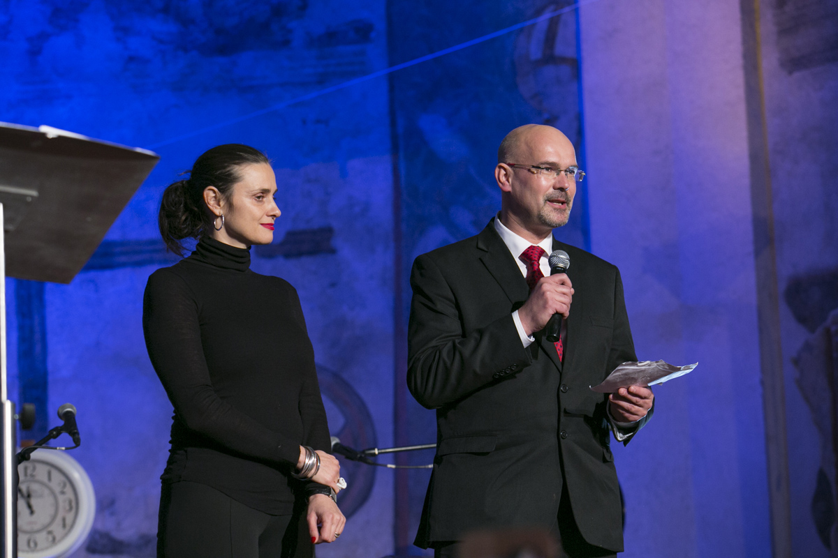 Michaela Chaloupková, členka představenstva ČEZ, a ředitel Otevřené společnosti Pavel Štern.